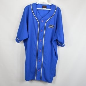 Vintage 90s Mens XL Nike Spell Out Baseball Jersey